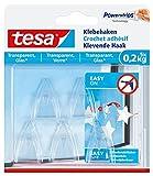 tesa Klebehaken, transparent für z.B. Glas, 0,2 kg Halteleistung