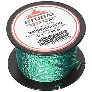51xrEip509L. SS300  - Stubai 443115 Cordel de albañil en carrete (diámetro de 1,7 mm, 50 m) color verde, 1,7mm