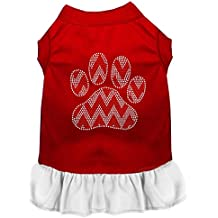 Mirage Pet Products 57-70 RDWTLG Candy Cane Chevron - Vestido para perro (talla