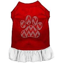 Mirage Pet Products 57-70 RDWTLG Candy Cane Chevron - Vestido para perro (talla