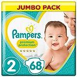 Pampers Premium Protection Windeln, Gr. 2 (4-8kg), Jumbopack, 1er Pack (1x 68 Stück)