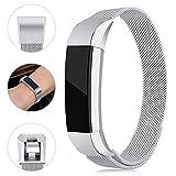 Onedream Correa Compatible para Fitbit Alta HR/Alta Strap Mujer Hombre Acero Band Pulsera Plata (Sin Reloj),S
