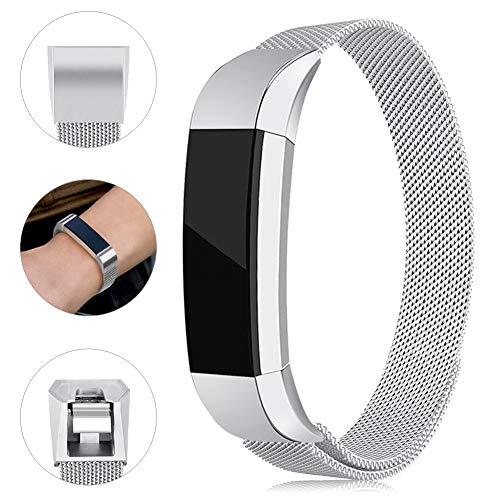 Onedream Kompatibel für Fitbit Alta Hr Ace Armband Damen Herren Metall Edelstahl Ersatzarmband Uhrenarmband Zubehör Kompatibel für Fitbit Alta Hr/Alta Silber Kleine