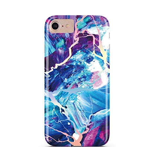 Majestic Holo Rainbow Schutzhülle Marmor Fall iPhone 6S, iPhone 7, iPhone 8 aus casesalamode (Mode Fall 6 Herren Iphone)