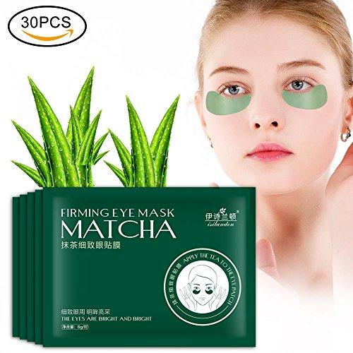 30 Paar Eye pad, Grüner Tee Feuchtigkeitsspendende Feuchtigkeitszirkel Dunkle Kreise Fading Feine Linien Firming Augenmaske Patch - Rauchen Patch