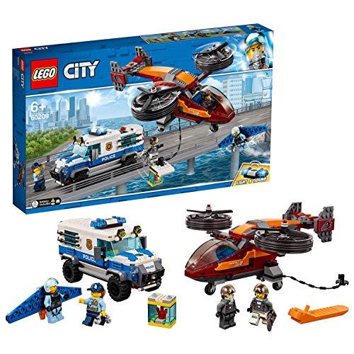 LEGO City Police Polizia aerea, Set di Costruzioni per Bambini dai 6 Anni Ricco di Dettagli e Accessori per Diventare un Piccolo Eroe e Aiutare Polizia a Catturare i Cattivi, 60209