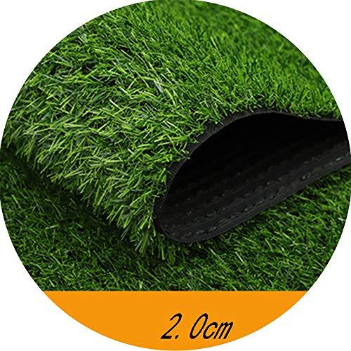 YNFNGXU Césped Artificial de Pila Alta de 20 mm, Alfombra de Paja de imitación Verde Alfombra de césped sintético for Techo al Aire Libre con Orificio de Drenaje (1 MX 2 m) (Size : 2x1m)