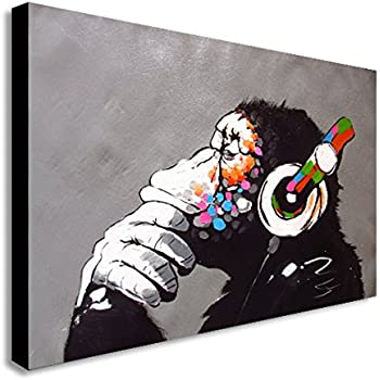 """Formula 1 Oil Paint Colorful wall art printed on canvas 22/'/' X 16/"""" solid frame"""
