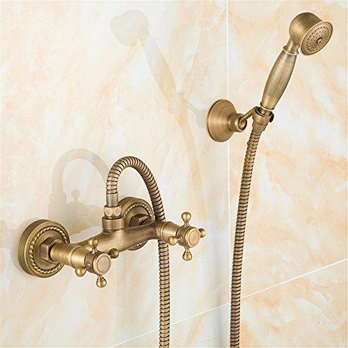 Preisvergleich Produktbild KVM@D Home Wasserhahn europäischer Retro Full Kupfer Handheld Dusche Set