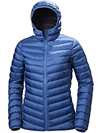 Helly Hansen W Verglas Hooded Down Insulato Chaqueta con capucha, Mujer, Azul (Stone