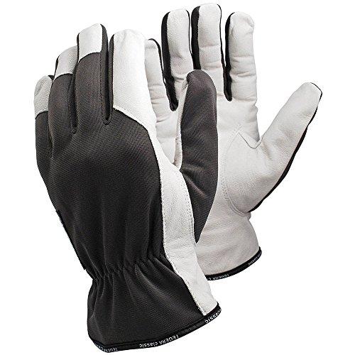Ejendals Lederhandschuh Tegera 115, Größe 9, 1 Stück, grau/weiß, 115-9