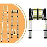 LEOGREEN - Echelle 3.2m télescopique en aluminium Pliable - Norme EN131 - Garantie 2 ans