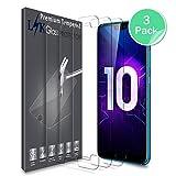 LK Protection écran Huawei Honor 10, [3 Pièces] Verre Trempé [Garantie de Remplacement à Durée de Vie] Screen Protector Film