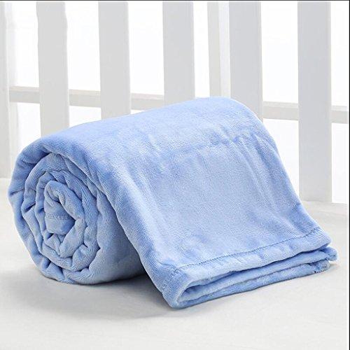 YAOHAOHAO Blau Baby Decke Decke Polyester Material Winter Kindergarten Konzipiert für Baby (100*150cm)