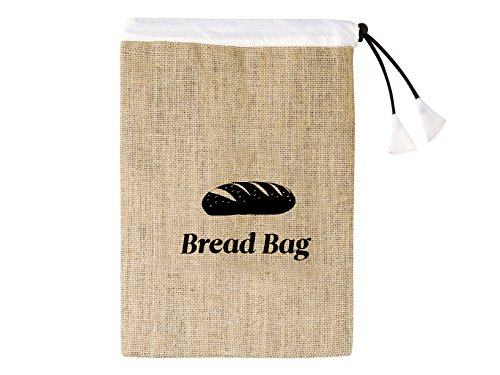 Home - Bolsa para el pan, tela marrón, 22x 35cm