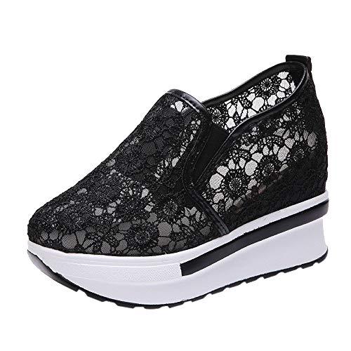 BaZhaHei Damen Outdoor Damenschuhe Mode Sneakers Frauen Keilstiefel Plateauschuhe Slip On Ankle Boots Mode Freizeitschuhe Erhöhung Schuhe Soft Bottom Rocking Schuhe Sport Turnschuhe