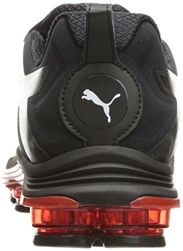 Puma Voltage Disc Synthétique Chaussure de Course Black-Red Blast