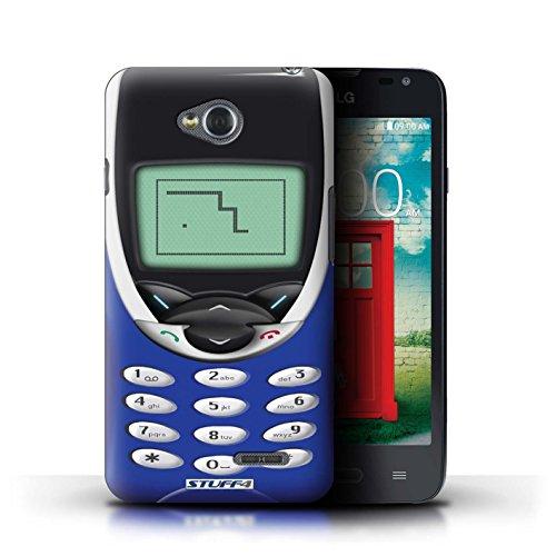 Kobalt® Imprimé Etui / Coque pour LG L65/D280 / Nokia 8210 noir conception / Série Portables rétro Nokia 8210 Marine