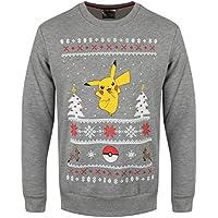 Ufficiale Pokemon Pikachu Natale Jumper maglia - Teens Unisex adulto