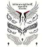 Tatuaggi temporanei Unisex Tattoos éphémères Personalizzato Adesivi per tatuaggi impermeabile all' acqua falso tatuaggio Viso Corpo Adesivo Adesivi (Ali d' angelo) x 1