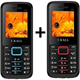 I KALL K88 Dual Sim 1.8 Inch Display Mobile Combo Of Two- Red & Blue