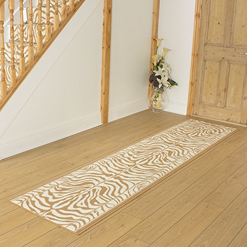 Zebra Cream Animal Print - Long Hall & Stair Carpet Runner