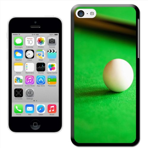 Snuggle Coque rigide pour Apple iPhone Motif Billard White Ball On Snooker Green