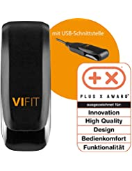 Medisana ViFit Fitnesstracker, Aktivitätstracker - Schrittzähler, Kalorienverbrauch, Schlaftracker, Bewegungsziel mit VitaDock+ Analyse App - 79410