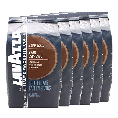 Lavazza Kaffee Grand Espresso, ganze Bohnen, 6er Pack, Bohnenkaffee, 6 x 1000g