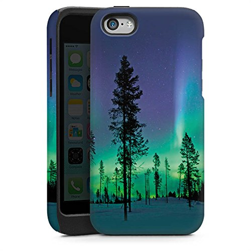 Apple iPhone 4 Housse Étui Silicone Coque Protection Arbres Ciel Mystique Cas Tough brillant