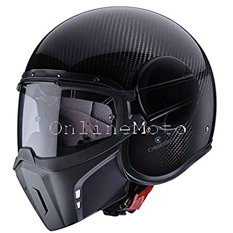 Caberg Ghost Open Face Streetfighter Scooter Motorcycle Helmet - Carbon M