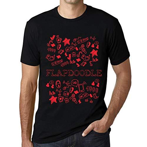 Flapdoodles Rock (Herren Tee Männer Vintage T Shirt Doodle Art FLAPDOODLE Schwarz)