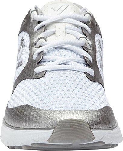 Vionic Womens Elation 1 Textile Trainers Weiß Silber