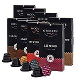 """O'ccaffe Nespresso compatibili capsule   Kit Degustazione""""nostra seleziona""""   70 tipi di caffè + 10 cioccolato   80 capsule (Novitàs)"""