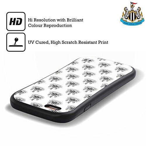 Ufficiale Newcastle United FC NUFC Nero 125 Anni 2017/18 Cresta E Modelli Case Ibrida per Apple iPhone 7 Plus Bianco
