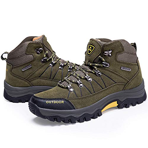 Men Hiking Boots Outdoor Trekking Shoes, Non-Slip Walking Boots for All Season Walking, Travelling, Backpacking, Working, Camping, Trekking, Biking, Climbing