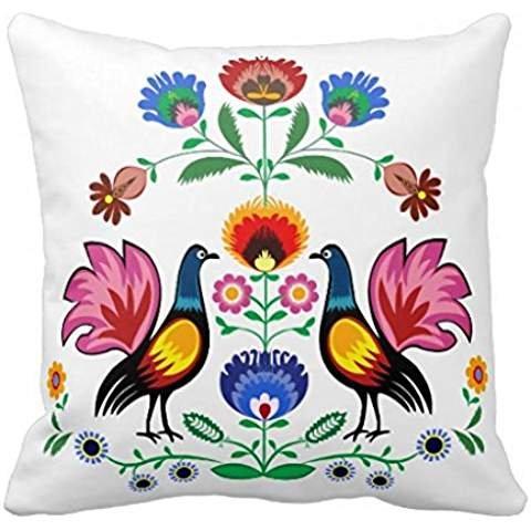 vernis-folk-avec-decoration-florale-plan-couvre-lit-taie-doreiller