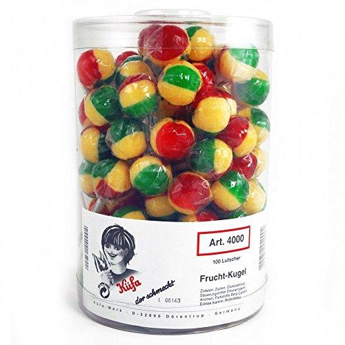 Küfa Frucht-Kugel-Lutscher 100 Stück 1.7 kg, 1er Pack (1x 1.7 kg)
