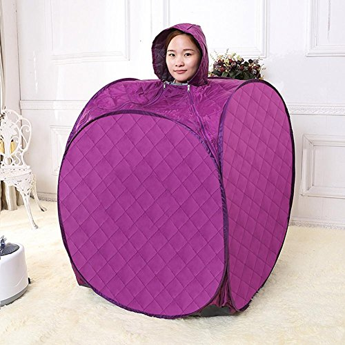 ZXZ-GO Portable Haushalt Dampf Sauna, Körper Sauna, Purple