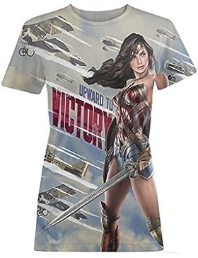Wonder Woman - Camiseta estilo propaganda bélica modelo Victory para mujer