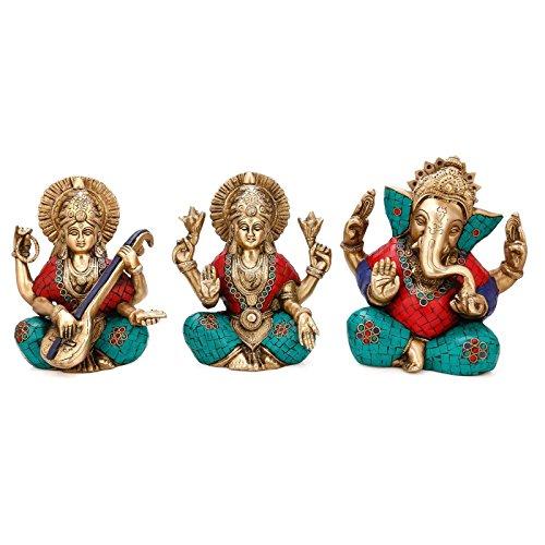 es-lakshmi-craftvatika-laxmi-ganesh-saraswati-juego-de-laton-senor-de-los-estatuas-3-turquesa-hecho-