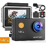 APEMAN Action Cam A79, 4K 16MP Wi-Fi Impermeabile 40M con Telecomando e Microfono Esterno Fotocamera Subacquea Digitale, Anti