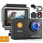 APEMAN Action Cam 4K HD WiFi 16MP con Telecomando e Microfono Esterno 40M Impermeabile Fotocamera Subacquea EIS...