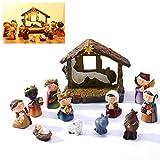 UNOMOR Krippenfiguren für Weihnachts dekoration