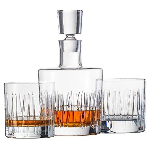 Schott Zwiesel 120145 Basic Bar Motion Whisky Set Bestehend aus 1 Karaffe und 2 Double Old Fashioned Gläsern, Kristall, farblos