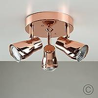 Modern 3 Way Sleek Round Adjustable Ceiling Spotlight by MiniSun