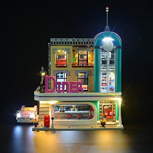 LIGHTAILING Conjunto de Luces (American Diner) Modelo de Construcción de Bloques - Kit de luz LED Compatible con Lego 10260 (NO Incluido en el Modelo)