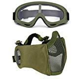 Paintball Maske, Fansport Airsoft Masken Softair Maske Mesh-Maske Airsoft Paintball Maske Schutzbrille Airsoft Taktische Maske Paintball Schutzbrille Klar Stahl Maske üBerbrille Airsoft Mesh Maske