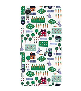 Village Tractor Home Fields 3D Hard Polycarbonate Designer Back Case Cover for Sony Xperia X :: Sony Xperia X Dual