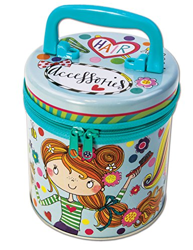 Rachel Ellen Designs Zipped Girl 's Storage Tin – Hair Zubehör